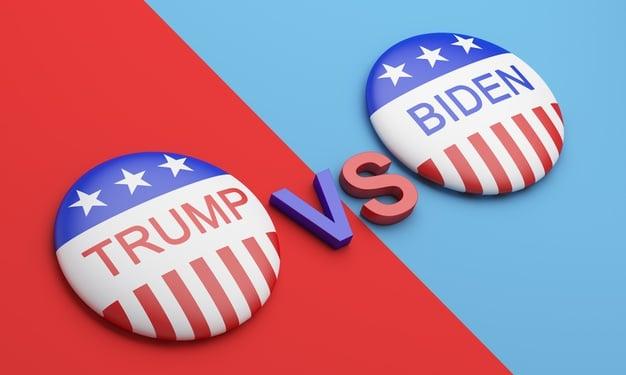 botoes de votacao emblemas trump vs biden 257995 245 Eleições americanas: como funciona e quais os candidatos?